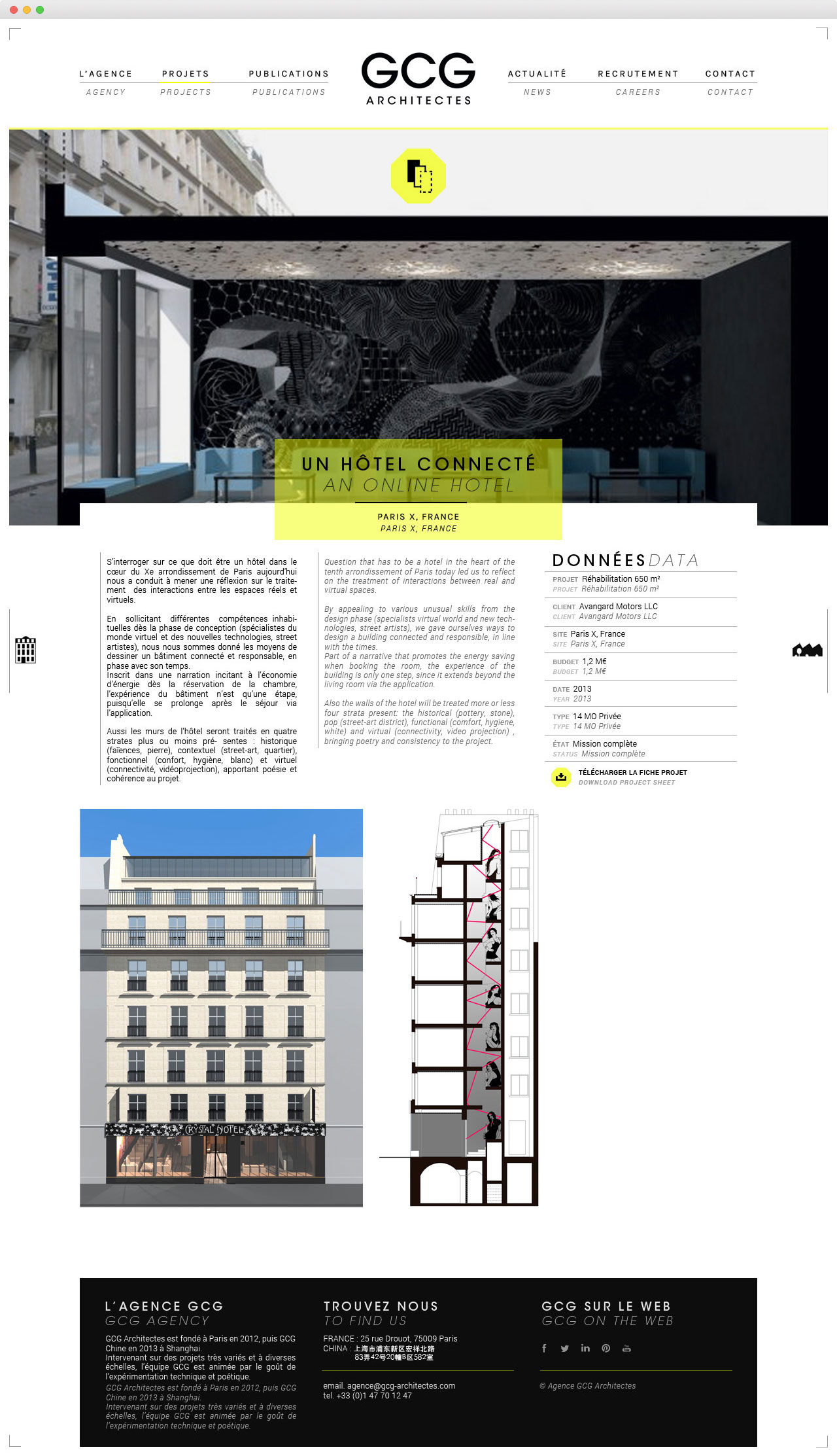 Perfect responsive website for the parisian architects gcg - Appartement duplex alvhem makleri goteborg ...